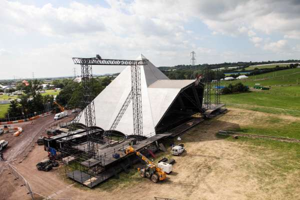 Glastonbury Festival Pyramid Stage Under Construction